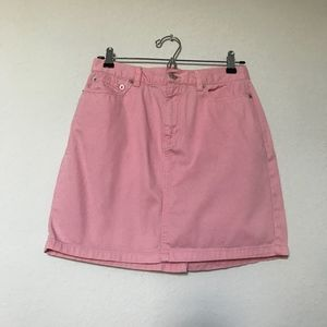 Tommy Hilfiger preppy pink mini skirt